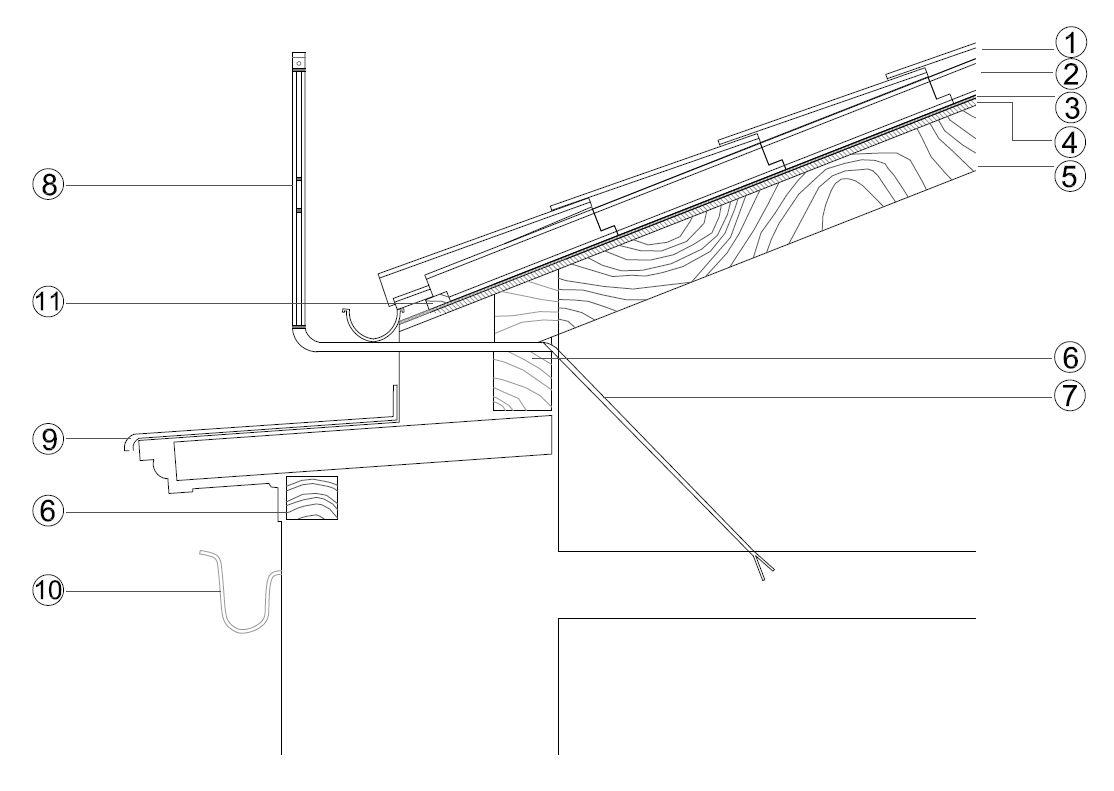 Par e hilera farf n estudio - Detalle constructivo techo ...